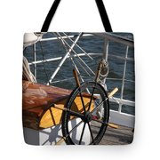 Sailingship Wheel Tote Bag