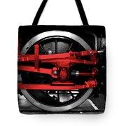 Wheel Of Red Steel Tote Bag