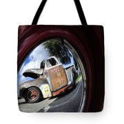 Wheel Reflections Tote Bag