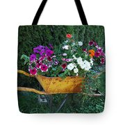 Wheelbarrow Beauty Tote Bag