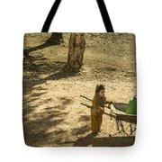 Wheelbarrow Girl  Tote Bag