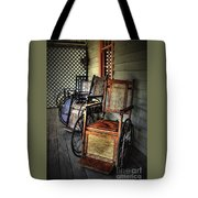 Wheelchairs Of Yesteryear By Kaye Menner Tote Bag