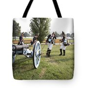 Wheeling The Cannon At Fort Mchenry In Baltimore Maryland Tote Bag