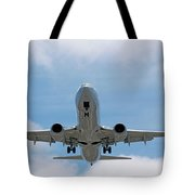 Wheels And Flaps Down Tote Bag