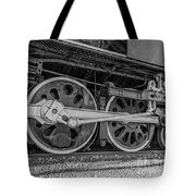 Wheels On A Locomotive Tote Bag