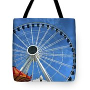 Wheels On Fire Tote Bag