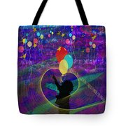When Balloons Become Stars Tote Bag by Sydne Archambault