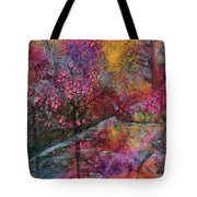 When Cherry Blossoms Fall Tote Bag