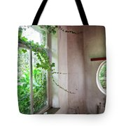 When Nature Takes Over - Abandoned Buildings Tote Bag