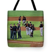 When No One Can Decide What To Call A High Fly Ball Tote Bag