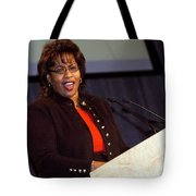 When She Was A Speaker Tote Bag