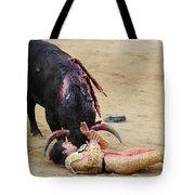 When The Bull Gores The Matador Vii Tote Bag