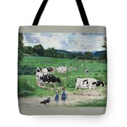 When The Cows Come Home, It's Milking Time Tote Bag
