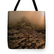 Sunset At Giant's Causeway Tote Bag