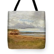 When The Tide Is Low  Maer Rocks, Exmouth, Tote Bag
