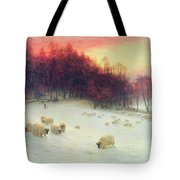 When The West With Evening Glows Tote Bag by Joseph Farquharson