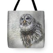 When Winter Calls Owl Art Tote Bag