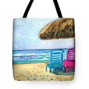 Peaceful Day At The Beach Tote Bag