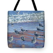Where Seagulls Play Tote Bag