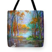 Where The Egret Lives Tote Bag