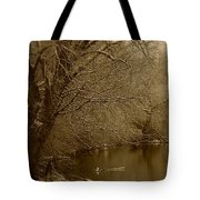 Where The Otters Play Tote Bag