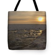 Where The Pier Meets The Sun Tote Bag
