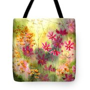 Where The Pink Flowers Grow Tote Bag