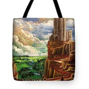 Where The Red Brick Road Leads Tote Bag