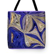 Where The Sky Meets The Sea Abstract Tote Bag