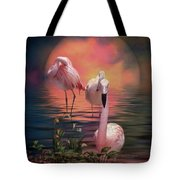 Where The Wild Flamingo Grow Tote Bag