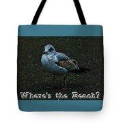 Where's The Beach Tote Bag