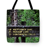 Which Way To Mayflower Lake Tote Bag