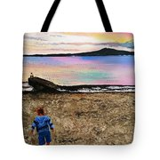 While Sunset Glow Fades , Tempest Roams In The Pathless Sky  While Sunset Glow Fades  Tote Bag