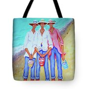 Whimsical Beach Women - The Treasure Hunters Tote Bag