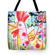 Whimsical Chicken Tote Bag