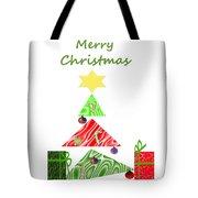 Whimsical Christmas Tree Tote Bag