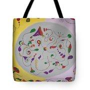 Whimsical Circle Tote Bag