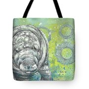 Whimsical Manatee Tote Bag