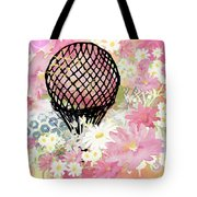 Whimsical Musing High In The Air Pink Tote Bag