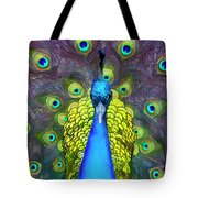 Whimsical Peacock Tote Bag