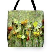 Whimsical Poppies On The Wall Tote Bag