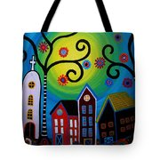 Whimsical Town Tote Bag
