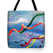 Whimsy Flying East Tote Bag