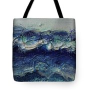 Whipped Cream Waves Tote Bag