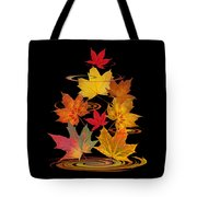 Whirling Autumn Leaves Tote Bag