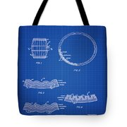 Whiskey Barrel Patent 1968 In Blue Print Tote Bag