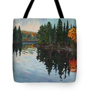 Whiskey Jack Bay Tote Bag by Phil Chadwick