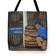 Whiskey Sleeping Tote Bag