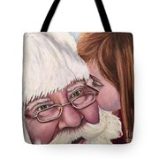 Whispered Wishes Santa  Tote Bag