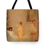 Whistler In His Studio James Abbott Mcneill Whistler Tote Bag